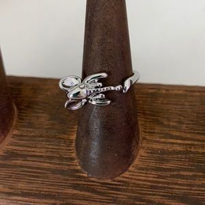 3/$10 NEW elephant ring silver tone
